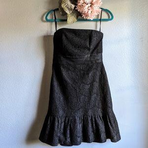 WHBM Strapless Lace Dress Black Size 6